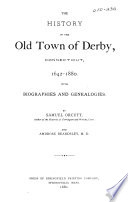 The History Of The Old Town Of Derby Connecticut 1642 1880