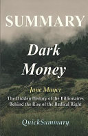 Summary   Dark Money