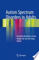 Autism Spectrum Disorders in Adults Book
