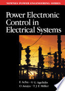 """""""Power Electronic Control in Electrical Systems"""" by Enrique Acha, Vassilios Agelidis, O. Anaya-Lara, TJE Miller"""
