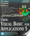Using Visual Basic for Applications 5
