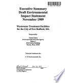 Wastewater Treatment Facilities for the City of New Bedford  MA