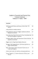 Studies in 20th   21st Century Literature