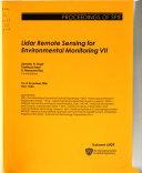 Lidar Remote Sensing for Environmental Monitoring