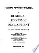 Federal Advisory Council on Regional Economic Development