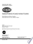Statistical Prediction of Laminar-Turbulent Transition