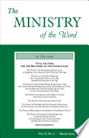 The Ministry Of The Word Vol 25 No 03 Vital Factors For The Recovery Of The Church Life