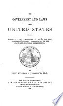 The Government and Laws of the United States Book