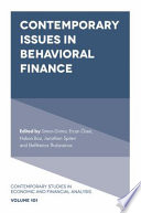 Contemporary Issues in Behavioral Finance