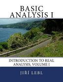 Basic Analysis I