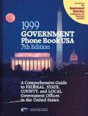 Government Phone Book USA  Book
