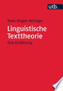 Linguistische Texttheorie