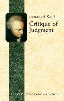 Critique of Judgment [Pdf/ePub] eBook