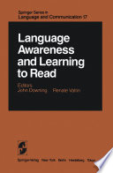 Language Awareness and Learning to Read