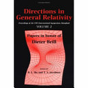 Directions in General Relativity  Volume 2