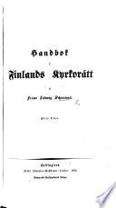 Handbok i Finlands Kyrkor  tt