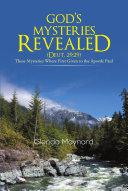 GOD'S MYSTERIES REVEALED (DEUT.29:29)