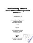 Implementing Effective Travel Demand Management Measures