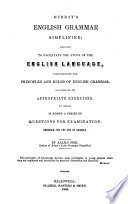 Murray's English Grammar Simplified Designed to Facilitate the Study of the English Language ...