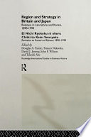 Region and Strategy in Britain and Japan Book