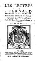 Les lettres de S. Bernard