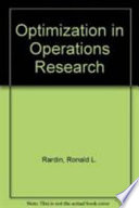 Optimization in Operations Research