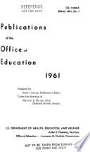Publications of the Office of Education