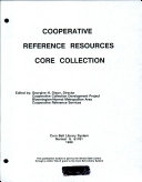 Cooperative Reference Resources Core Collection Book PDF