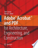 Adobe Acrobat And Pdf For Architecture Engineering And Construction