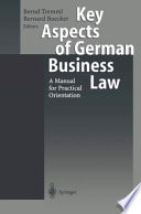 Key Aspects of German Business Law Book