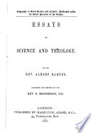 Essays on Science and Theology