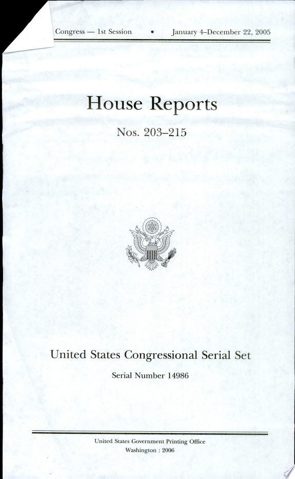United States Congressional Serial
