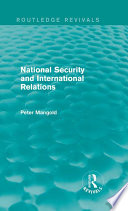 National Security And International Relations Routledge Revivals