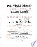 Pub. Virgilii Maronis Bucolicorum Eclogae Decem