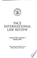 Pace yearbook of international law  , Band 13