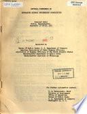 National Conference on Increasing Highway Engineering Productivity, Somerset Hotel, Boston, Massachusetts, September 17-18-19, 1957