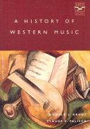 A History Of Western Music Book PDF