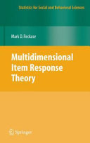 Pdf Multidimensional Item Response Theory