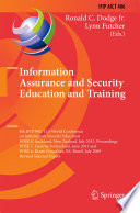 Information Assurance And Security Education And Training Book PDF