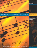 Harmonic Materials in Tonal Music Book