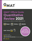 GMAT Official Guide Quantitative Review 2021  Book   Online Question Bank and Flashcards