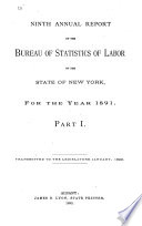 Annual Report of the Bureau of Labor Statistics of the State of New York for the Year ...