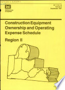 Construction Equipment Ownership and Operating Expense Schedule