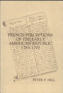 Pdf French Perceptions of the Early American Republic, 1783-1793 Telecharger