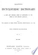 Lloyd's Encyclopædic dictionary