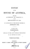 From the accession of Francis I  to the revolution of 1848 Book PDF