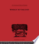 What Is Value