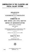 Hearings  Reports and Prints of the House Committee on Post Office and Civil Service
