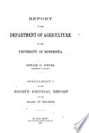 Report of the Department of Agriculture of the University of Minnesota