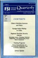 The FSI Foreign Affairs Quarterly